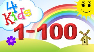 Numbers counting from 1 to 100 for children  Counting one to one hundred english