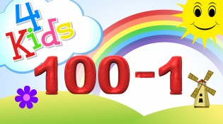 Numbers counting from 100 to 1 for children  Counting one hundred to one english